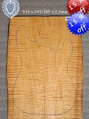 Prem. tigerflamed Maple Guitar Top, 5,5mm    (FL-494)