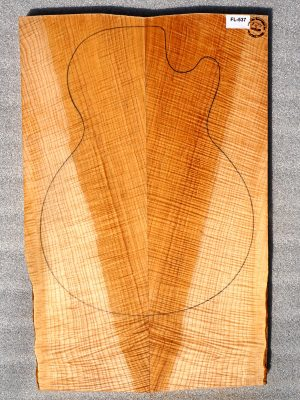 Flamed Maple Guitar Top, 26mm  (FL-537)