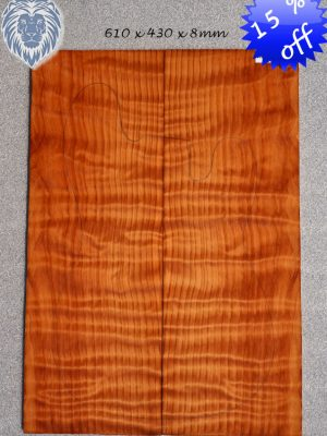 BIG prem. quilted/flamed REDWOOD Guitar Topset, 8mm   (RW-1533)