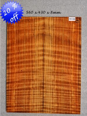 Quilted/flamed REDWOOD Guitar Topset, 8mm   (RW-1536)