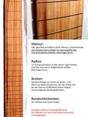 Rosenholz/Rosewood Fretboard  (pre-assembled)