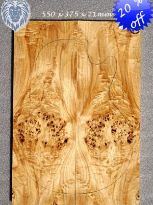 Fig. siberian Poplar Burl Guitar Topset, 21mm  (SPB-247)