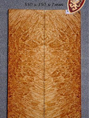 Superprem. Maple Burl Guitar Top, 7mm     (V-7923)