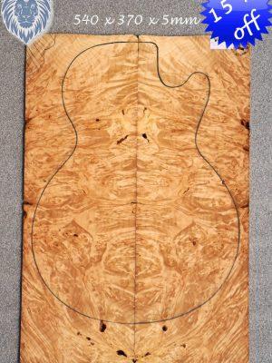 Prem. Maple Burl Guitar Topset, 5mm    (V-7926)
