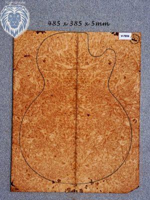 Prem. Maple Burl Guitar Top, 5mm   (V-7950)