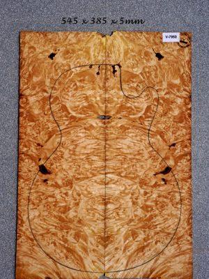 Maple Burl Guitar Top, 5mm  (V-7953)