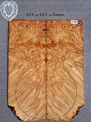 Prem. Maple Burl Guitar Top, 8mm   (V-7962)