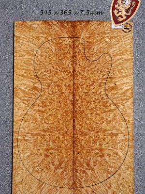 Superprem. Maple Burl Guitar Top, 7,5mm    (V-7971)