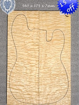 Prem. quilted Maple Guitar Top, 7mm   (V-8007)