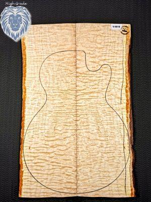 Prem. quilted Maple Guitar Top, 7mm  (V-8019)