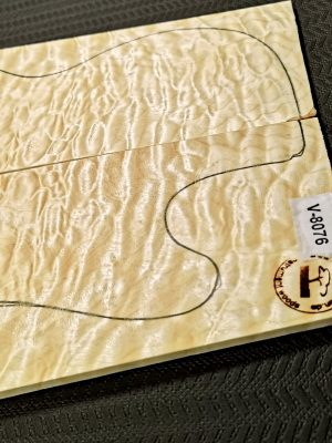 Prem. quilted Maple Guitar Top, 6mm  (V-8076)