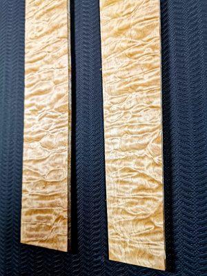 Prem. quilted Maple Fingerboard blanks, 7mm  (V-8104 & 8105)