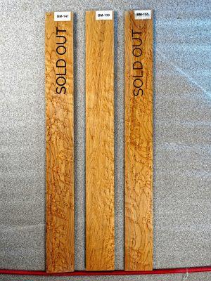 Birdseye Maple Fretboard Blanks (B.139-141-155)