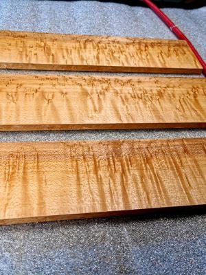 Birdseye Maple Fretboard Blanks (B.4-5-6)