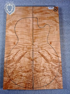 Prem. highly. fig. Maple Guitar Top, 30mm  (FL-534)