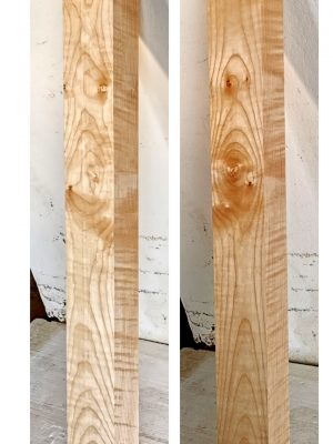 Flamed Maple Neckwood Blank, 48mm  (FL-554)