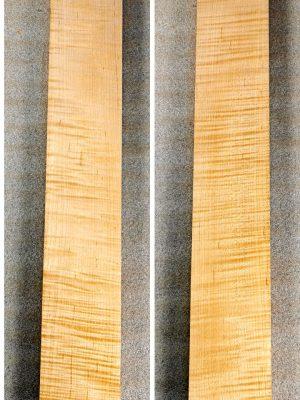 Prem. flamed Maple Neckwood Blank, 31mm  (FL-559)
