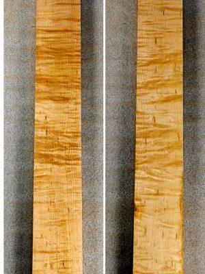Prem. curly/quilt. Maple Neckwood Blank, 31mm  (FL-560)