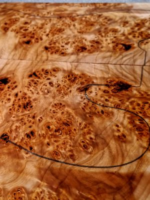 Prem. Cottonwood Burl (Pappel-Maser) Guitar Top, 7,5mm  (GP-129)