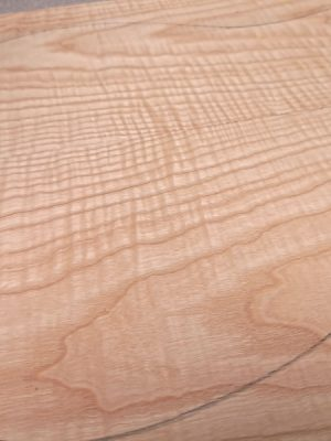 Europ. curly Ash Guitar Top, 6mm  (OE-73)