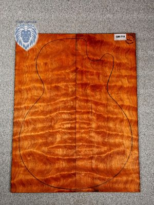 Prem. chinese quilted Maple Guitar Top, 4mm  (QM-710)