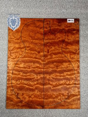 Prem. chinese quilted Maple Guitar Top, 4mm  (QM-711)