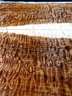 "Prem. ""chocolate"" quilted Maple Guitar Top, 6,5mm  (QM-718)"