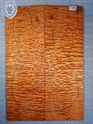 "Prem. ""redheart"" quilted Maple Guitar Top, 6,5mm  (V-7654)"