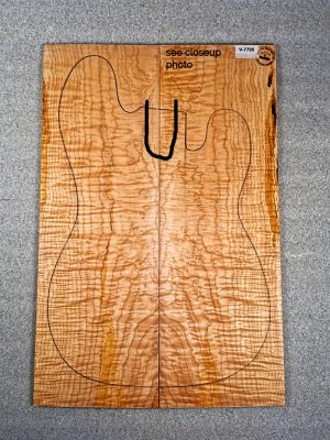 Curly Maple Guitar Top, 7mm  (V-7795)