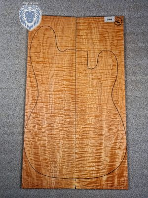 "Prem. ""redheart"" quilted Maple Guitar Top, 5,5mm  (V-7805)"