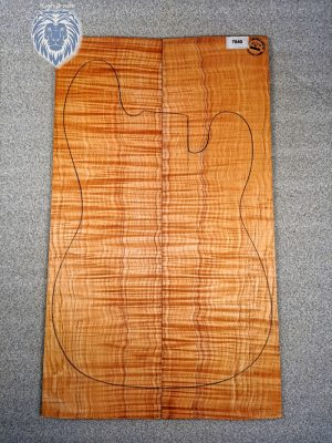 Prem. flamed Maple Guitar Top, 4,5mm  (V-7840)