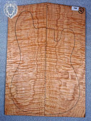 Prem. quilted Maple Guitar Top, 6mm  (V-7849)