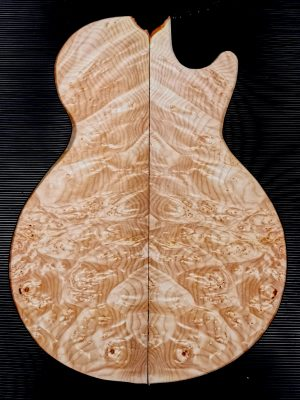 Prem. Maple Burl Guitar Top, 9mm  (V-7968)