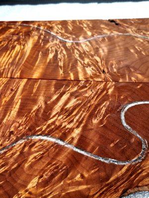 Prem. roasted burly Maple Guitar Top, 5mm  (V-8100)