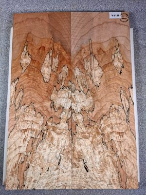 Prem. spalted Maple Guitar Top, 7mm  (V-8118)