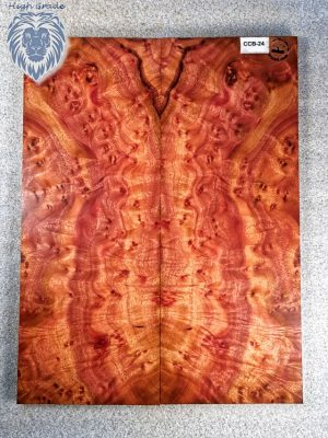 Prem. Camphor Burl Guitar Top, 15mm  (CCB-24)