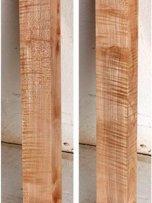 Europ. flamed Maple Neckwood Blank, 48mm  (FL-562)
