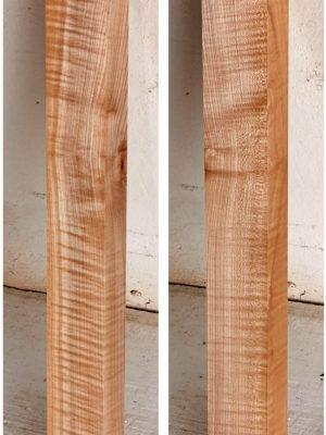 Europ. flamed Maple Neckwood Blank, 48mm  (FL-563)