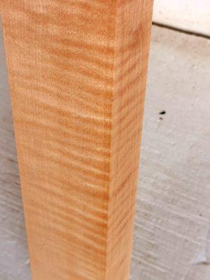 Europ. flamed Maple Neckwood Blank, 48mm  (FL-565)