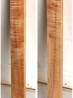 Europ. flamed Maple Neckwood Blank, 25mm  (FL-580)