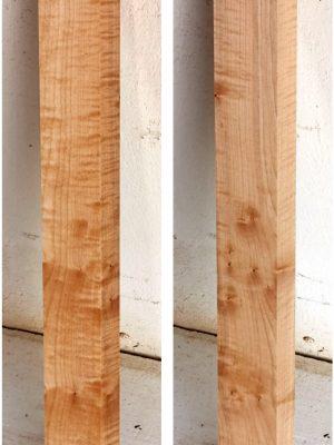 Europ. flamed Maple Neckwood Blank, 41mm  (FL-581)