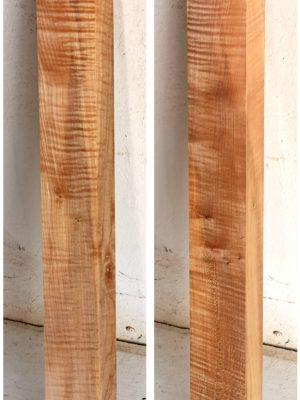 Europ. flamed Maple Neckwood Blank, 48mm  (FL-584)