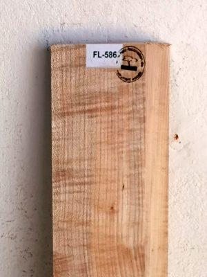 Europ. flamed Maple Neckwood Blank, 47mm  (FL-586)