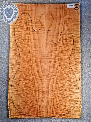 Prem. curly Maple Guitar Top, 8mm  (FL-588)