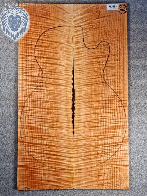 Prem. flamed Maple Guitar Top, 8mm  (FL-593)