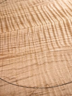 Curly Maple Guitar Top, 8mm  (FL-594)