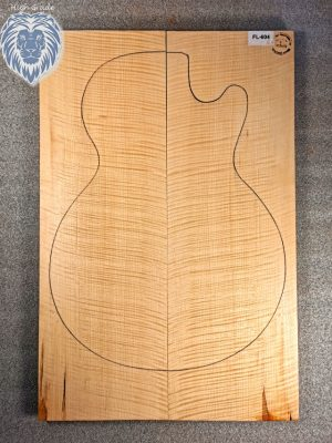 Prem. europ. flamed Maple Guitar Top, 20mm  (FL-604)