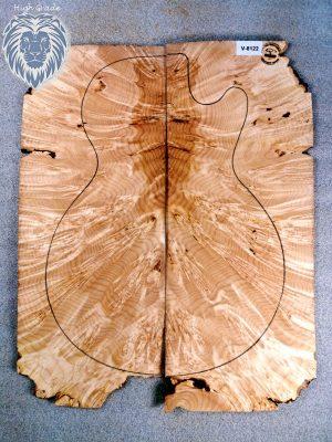 Prem. burly Maple Guitar Top, 6mm  (V-8122)