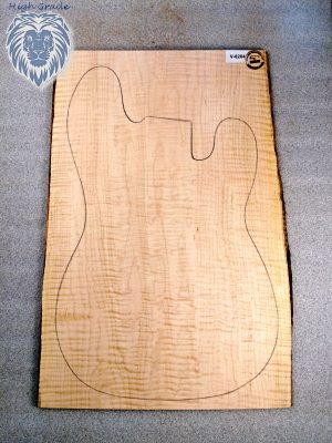 Prem. 1pc. curly Maple Guitar Top, 7mm  (V-8204)
